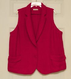 Coldwater Creek Women's Pink Fuchsia Sweater Vest Plus Size 2X #ColdwaterCreek #BBW #fashion #shopping #