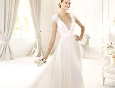 chiffon dresses for a bride