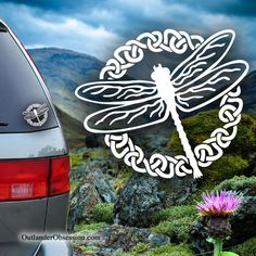 Show your love of Outlander and the second season of the Outlander tv series by Diana Gabaldon with this Celtic Dragonfly decal.  <$13
