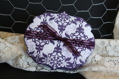 Gift Box Elegant eggplant with white