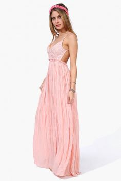 Sway Maxi Dress in Neon orange | Necessary Clothing
