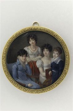 Nicolas Jacques, Three young girls and a boy, 1810