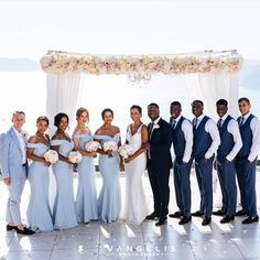 Beautiful bridesmaids stunning in our DRAYA dresses in powder blue 💙 Thank you for choosing us for this very special day! Contemporary Bridesmaids Dresses, Midnight Blue Bridesmaid Dresses, Blue Bridesmaids, Wedding Bridesmaid Dresses, Wedding Colors, Periwinkle Wedding, Periwinkle Blue, Pastel Blue, Dusty Blue