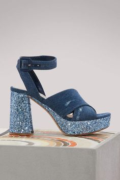 1c309c81e852 Buy Miu Miu Denim sandals online on 24 Sèvres. Shop the latest trends -  Express delivery   free returns. h art · shoes