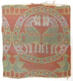 Fragment Date: century Geography: Iran Culture: Islamic Medium: Silk; woven Dimensions: H. 6 in. Textiles, Textile Prints, Antique Jewellery Designs, Iranian Art, Byzantine Art, Historical Art, Magic Carpet, Silk Road, Carpet Colors