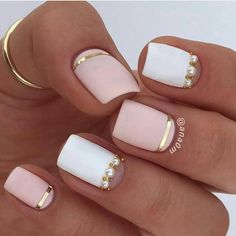 Classy nail art designs for short nails gel nail designs, fun nails, nice nails Classy Nail Art, Classy Nail Designs, Pretty Nail Designs, Colorful Nail Designs, Short Nail Designs, Nail Art Designs, Nails Design, Hair Designs, French Nails