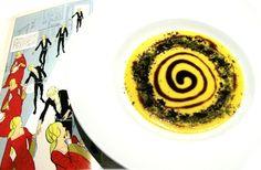 Yellow soup for Shakespeare's Hamlet #assaggiditeatro #romagourmet #lacredenza #igormacchia #giovannigrasso #italiancuisine #italy