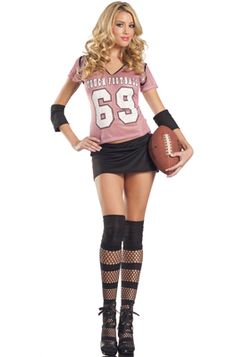 sexy football girl adult costume halloween costumes football sports - Halloween Costume Football