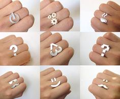 Special Price for 2 - sterling silver rings -From SmilingSlilverSmith on Etsy