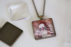 How to make a photo necklace by Susan Keller. Easy and cute gift idea!