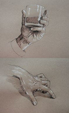 Hand Studies in Ink by outsidelogic on DeviantArt Hand Studies in Ink by outsidelogic on Pencil Art Drawings, Cool Art Drawings, Art Drawings Sketches, Anatomy Drawing, Anatomy Art, Hand Drawing Reference, Art Reference, Human Figure Drawing, Toned Paper