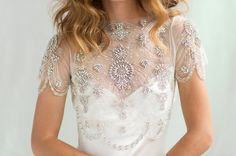 Bridal Cover-up Wedding Crop Top 1920's by CamillaChristine
