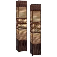 I pinned this Gretchen Floor Lamp - Set of 2 from the Wicker, Cane & Rattan event at Joss and Main!