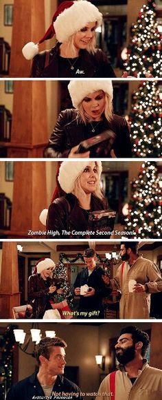 """I got you a little something, Liv."" #iZombie #2x10"
