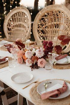 Rose Wedding, Wedding Flowers, Dream Wedding, Wedding Chairs, Wedding Table, Wedding Centerpieces, Wedding Decorations, Gold Lanterns, Peacock Chair