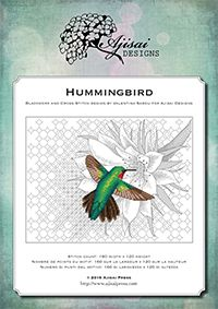 Blackwork i Cross Stitch Budynek: Hummingbird