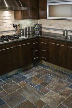 Kitchen Flooring Ideas | Pinterest | Slate flooring, Slate and Kitchens