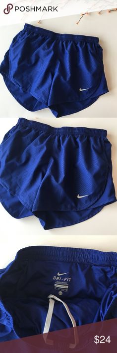 Nike | cobalt blue running shorts Nike brand NWOT cobalt blue running shorts. Have a subtle herringbone like pattern to the still in the same blue color. These are super cute and great for working out! Feel free to ask questions or make an offer! Check out the other Nike stuff in my closet! Nike Shorts