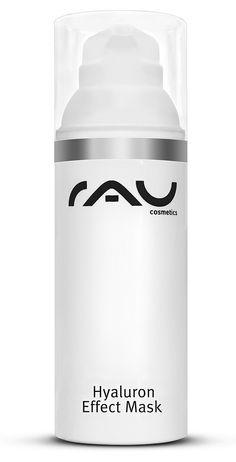 """Ons """"RAU Hyaluron Effect Mask"""" in hygiënisch airlesspompje is bijzonder geschikt voor de droge tot zeer droge huid. Maar ook de vermoeide en gestresste huid kan van dit lichte gelmasker profiteren. Er ontstaat onmiddellijk een herstel van de vochtbalans, de huid wordt verstevigt, de hoornhuid wordt genormaliseerd en de teint wordt verfrist. Daarbij wordt met de gelvormige textuur van het masker een koelend effect bereikt, daardoor werkt het masker kalmerend en in de zomer ook aangenaam ..."""