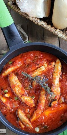 Pechugas de pollo all'Arrabbiata. Receta