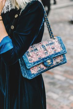 We love the casual feel of this Chanel bag.