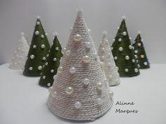 Coisas que Gosto: Mini árvore natalina - Artesanato Passo a passo