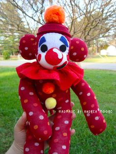 Clown Sock Monkey by ArtsyAndreaM on DeviantArt