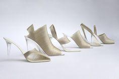 Raw silk shoes by Nicole Goymann and Christoph John