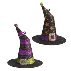 Glitter Witch Hat Ornaments - hmm, could we combine this with a harry potter theme?