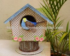 artes by Má: casinha de passarinho