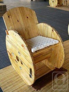 Cable spool chair..