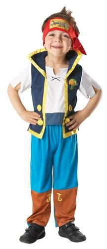 Kids - Disney Jake & the Neverland Pirates Trousers, shirt with attached waistcoat and bandana scarf Kids - Male Colour : Blue  Currency Conversion : USA $ 18.37 Australian $ 17.55 - Cartoon and Video Game Heroes - Disney Jake & the Neverland Pirates - Jake the Pirate. Size : Toddler - Red Hot Fancy Dress Australia, Licensed Film, TV and Cartoon Hero Costumes. Dress as your favourite movie star or Hero. - (Powered by CubeCart)