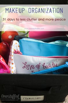 31 Days to Less Clutter and More Peace: Take Control of Your Make-up (and the October 2014 Beauty Box Five)   Overstuffed