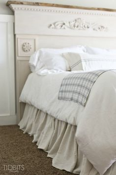 DIY Gathered Bed Ski