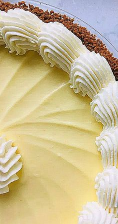 Lemon Cream Pie with Ginger Cookie Crust is a creamy tart mousse with a nice spicy kick from the triple ginger cookies from Trader Joe's. Easy No Bake Desserts, Köstliche Desserts, Lemon Desserts, Lemon Recipes, Delicious Desserts, Dessert Recipes, Yummy Food, Pie Recipes, Lemon Pie Recipe