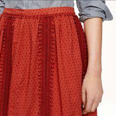 J Crew Swiss Dot Pom Pom Skirt Great condition. Price is firm unless bundled : ) J. Crew Skirts Mini