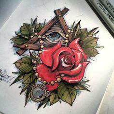#ta2 #tats #tattoo #tattoos #tattooart #tattoodesign #tattooflash #flash #design #drawing #draw #painting #paint #eye #masson #rose #roses #...