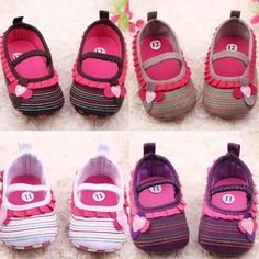 Newest 0-12M Sweet Newborn Baby Girls Flower Ruffled Shoes Toddler Soft Bottom Kids Crib First Walkers