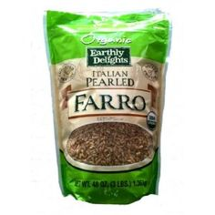 Choose Wisely - Farro: There are many varieties of whole grains. A few of my favorite choices are brown rice, quinoa, barley, spelt, and farrow. Farrow is by far my family's favorites. Farro (pronounced FAHR-oh) is one of the oldest cultivated grains. Farro is considered the Mother of all grains; the original grain from which all others come from including rice, barley, wheat and rye. It is such a good source of protein and fiber.