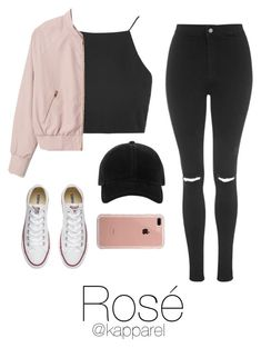 Carnival: Rosé by kapparel on Polyvore featuring moda, Topshop, Converse, rag & bone and Belkin