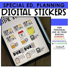 Planning digitally as a special education teacher CAN be fun!  I created digital stickers around the most common phrases I write/type in my IEP Binder and in my lesson planning! They bring me so much joy! HA!  I have included over 100  special education digital stickers!  These digital stickers are for personal only, for any of your digital planning! Iep Binder, Student Birthdays, Iep Meetings, Co Teaching, Common Phrases, Progress Monitoring, Progress Report, Special Education Classroom, Lesson Planning