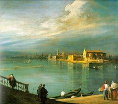San Cristoforo, San Michele & Murano ~ Canaletto Giovanni Antonio Canal