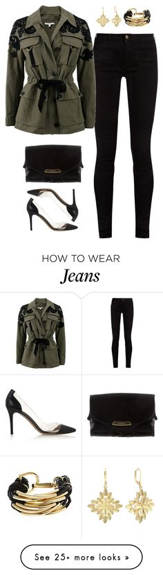 """Untitled #391"" by froyalbiatsii on Polyvore featuring Gucci, Veronica Beard, Burberry, Saachi, Monet and Gianvito Rossi"