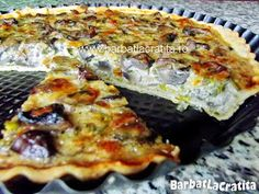Tarta cu ciuperci si cascaval Cooking Recipes, Healthy Recipes, Quiche, Deserts, Food And Drink, Appetizers, Vegan, Breakfast, Gourmet