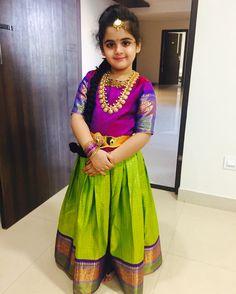 Kids pattulanga -Indian dresses