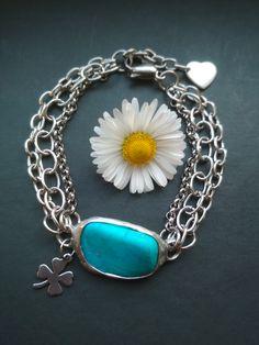 Tyrkenitový náramok z chirurgickej ocele. Turquoise Bracelet, Pendant Necklace, Bracelets, Jewelry, Jewlery, Jewerly, Schmuck, Jewels, Jewelery