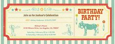 Pin the Tail on the Donkey Invitation
