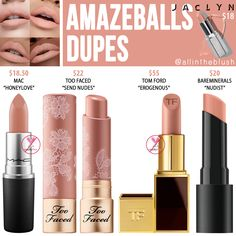 Jaclyn Hill Cosmetics Amazeballs Lipstick Dupes - All In The Blush Lipstick For Fair Skin, Lipstick Dupes, How To Apply Lipstick, Best Lipsticks, Nude Lipstick, Makeup Dupes, Lipstick Swatches, Lipstick Shades, Makeup Products