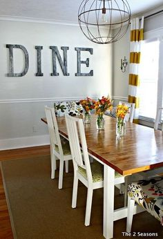 ikea dining table hack, dining room ideas, painted furniture, woodworking projects