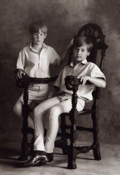 Prince William and Prince Harry in 1992